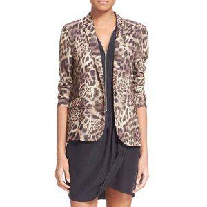 The Kooples Cheetah Single Button Blazer Lined
